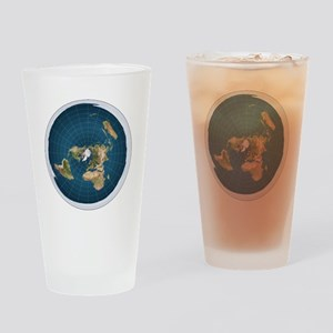 Flat Earth Map Flat Earther Globe Drinking Glass