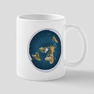 Flat Earth Map Flat Earther Globe Mugs