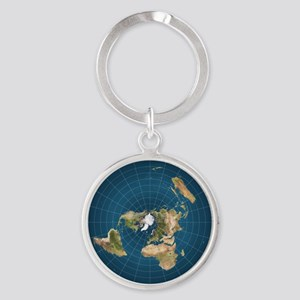Flat earth keychains cafepress flat earth map flat earther globe keychains gumiabroncs