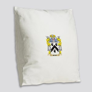 Heady Coat of Arms - Family Cr Burlap Throw Pillow