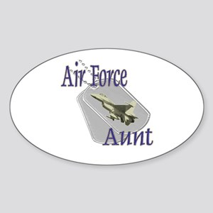 Jet Air Force Aunt Oval Sticker