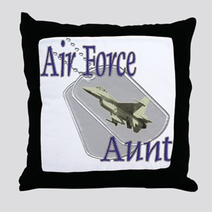Jet Air Force Aunt Throw Pillow