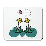 Yellow Daffoldils & Butterfly Mousepad
