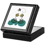 Yellow Daffoldils & Butterfly Keepsake Box