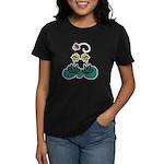 Yellow Daffoldils & Butterfly Women's Dark T-Shirt