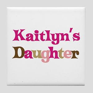 Kaitlyn's Daughter Tile Coaster