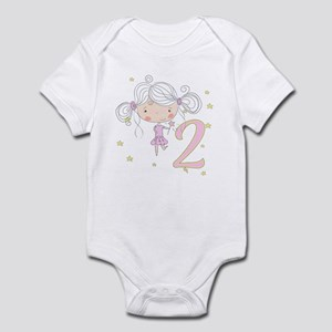 2nd Birthday Princess Baby Light Bodysuit