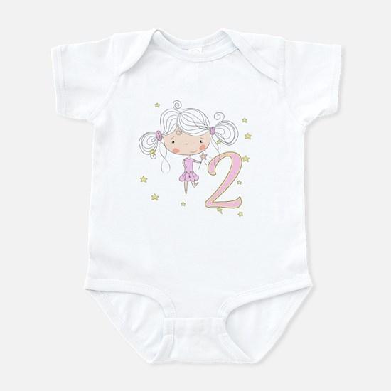 2nd Birthday Princess Baby Light Bodysuit