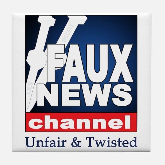 Faux News Tile Coaster