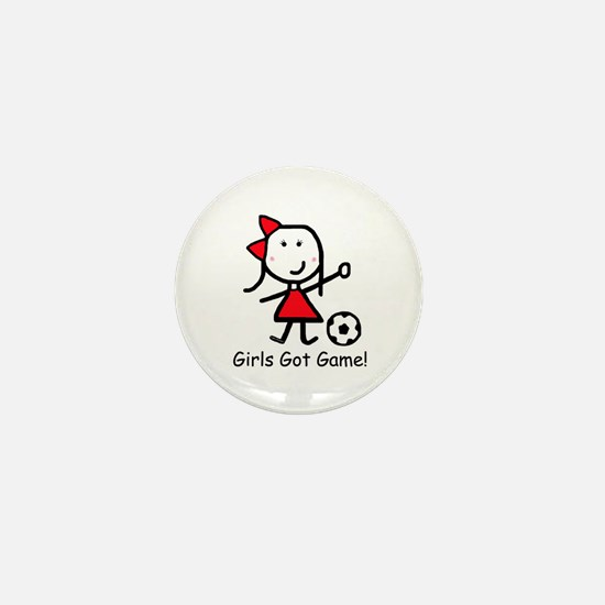Soccer - Girls Got Game Mini Button