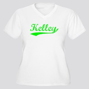 Vintage Kelley (Green) Women's Plus Size V-Neck T-
