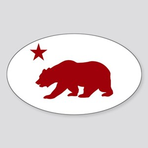 California Bear Red2 Sticker