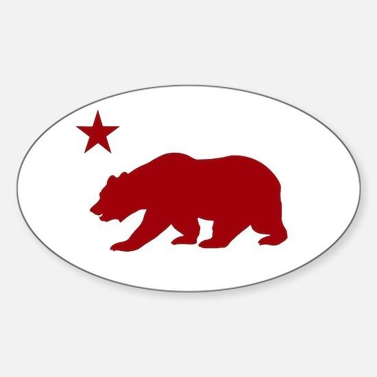 California Bear Red2 Decal