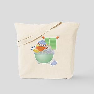 Cute Bathtime Ducky Tote Bag