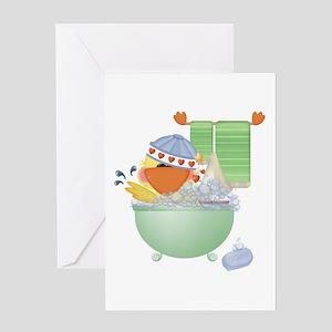 Cute Bathtime Ducky Greeting Card