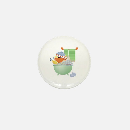Cute Bathtime Ducky Mini Button