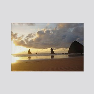 Cannon Beach, Oregon Sunset Rectangle Magnet