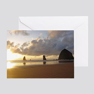 Cannon Beach, Oregon Sunset Greeting Card