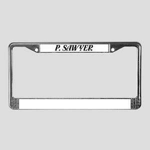 """P. Sawyer"" License Plate Frame"