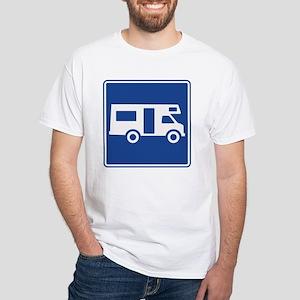Motor Home Sign White T-Shirt