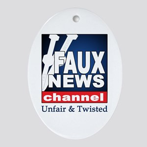 FAUX NEWS Keepsake (Oval)