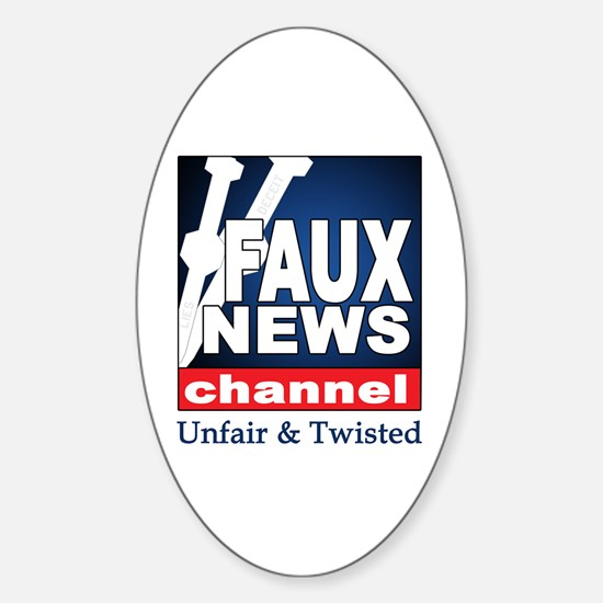 FAUX NEWS Oval Decal