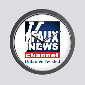 FAUX NEWS Wall Clock