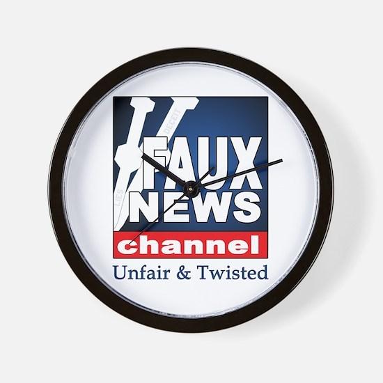FAUX NEWS Wall Clock
