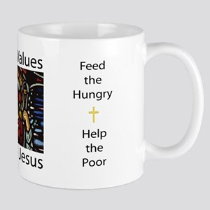 Liberal Values Just Like Jesus Mug