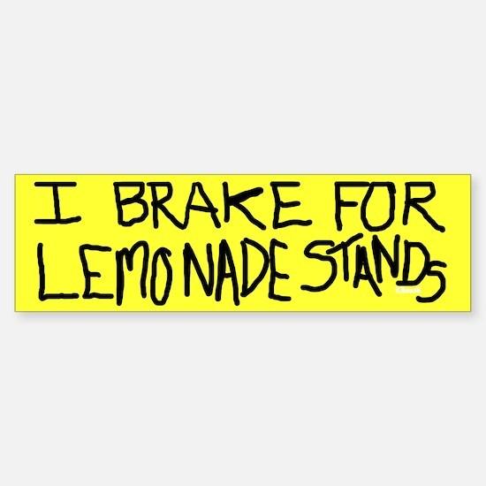 Bumper Sticker - I Brake for Lemonade Stands