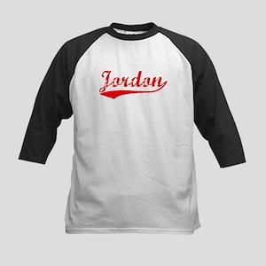 Vintage Jordon (Red) Kids Baseball Jersey