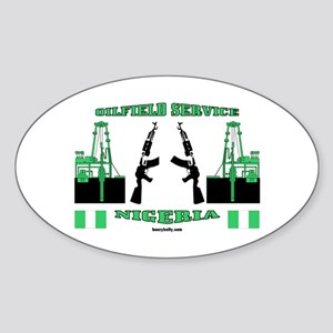 Nigeria Service Oval Sticker