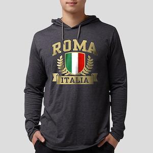 Roma Italia Mens Hooded Shirt