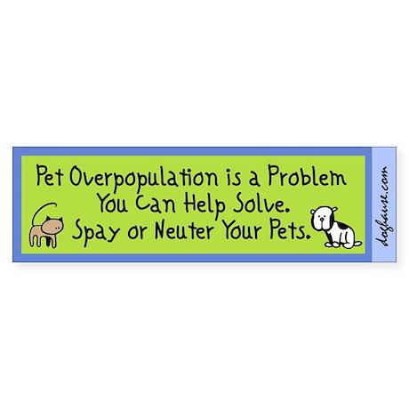 Overpopulation Spay & Neuter Sticker (Bumper 50 pk