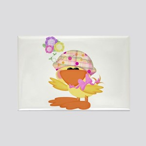 Cute Baby Girl Ducky Duck Rectangle Magnet