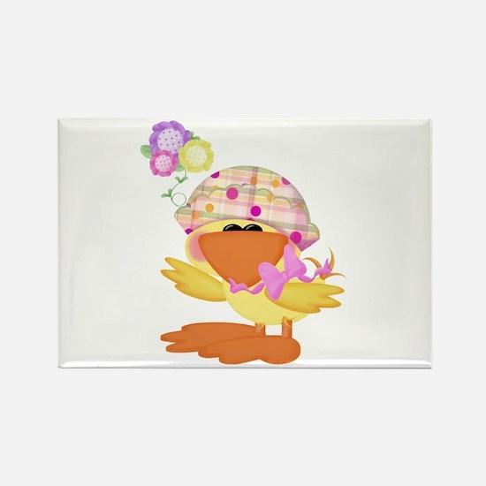 Cute Baby Girl Ducky Duck Rectangle Magnet