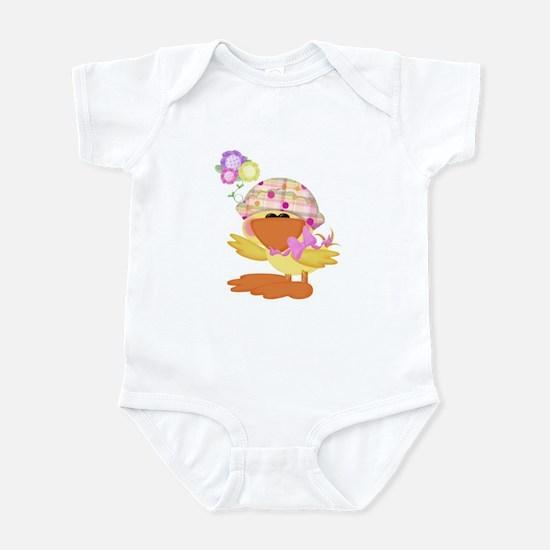 Cute Baby Girl Ducky Duck Infant Bodysuit