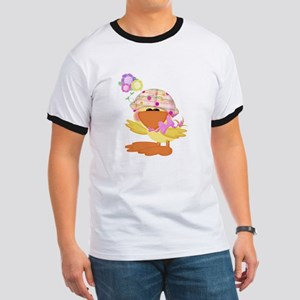 Cute Baby Girl Ducky Duck Ringer T