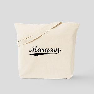 Vintage Maryam (Black) Tote Bag