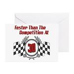 Racing At 30 Greeting Cards (Pk of 10)