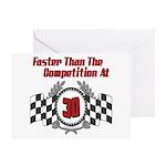 Racing At 30 Greeting Card