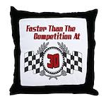 Racing At 30 Throw Pillow