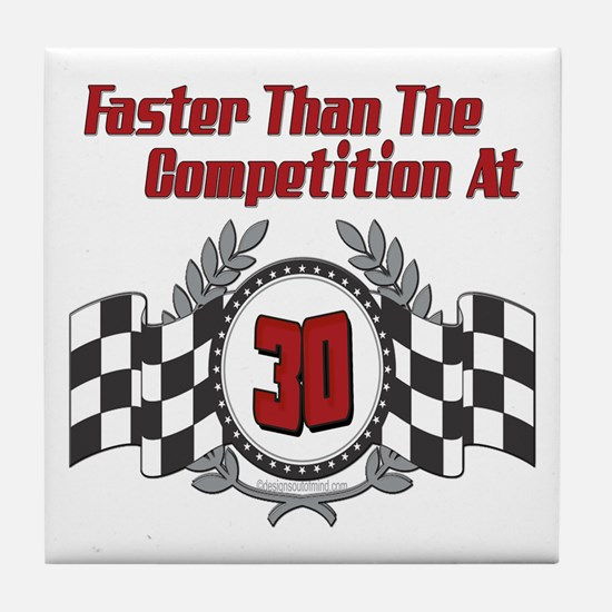 Racing At 30 Tile Coaster