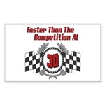 Racing At 30 Rectangle Sticker