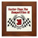 Racing At 30 Framed Tile