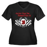 Racing At 30 Women's Plus Size V-Neck Dark T-Shirt