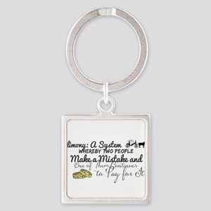 Alimony: A System Whereby Two People Mak Keychains