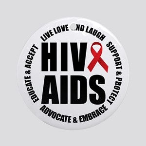 HIV/AIDS Ornament (Round)