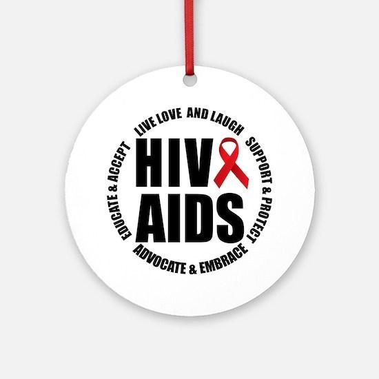 HIV/AIDS Ornament (Round)