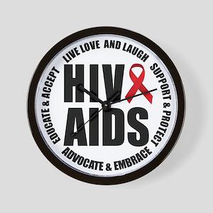 HIV/AIDS Wall Clock